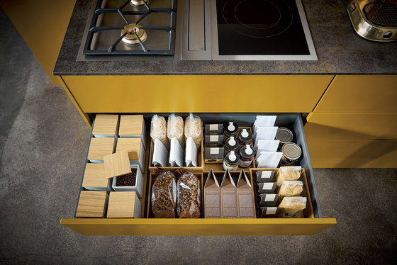 NX 505 Saffron yellow satin by next125 | Fitted kitchens
