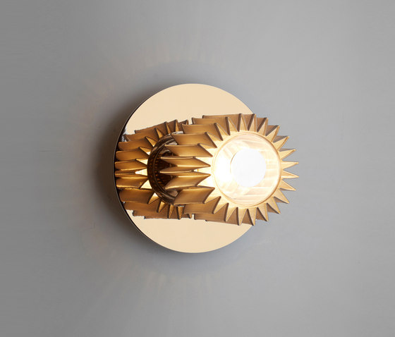 IN THE SUN | 190 wall gold/gold by DCW éditions | Wall lights
