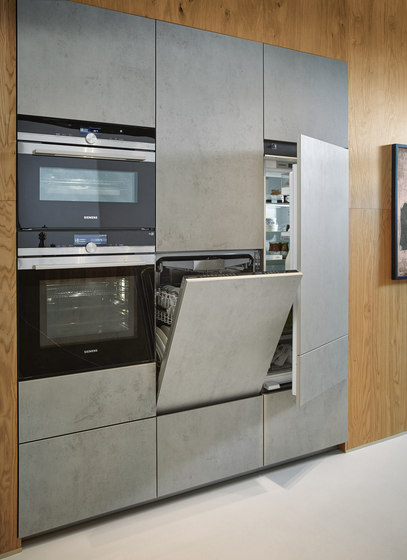 NX 950 Ceramic concrete grey effect by next125 | Fitted kitchens