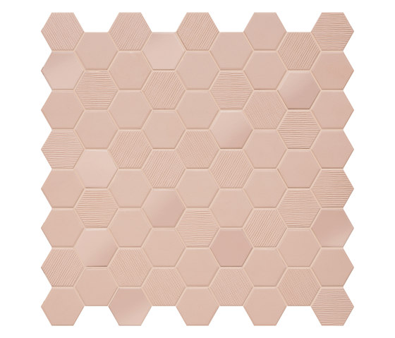 Hexa | Mosaic Rosy Blush by TERRATINTA GROUP | Ceramic mosaics