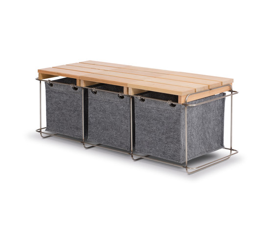 Grit / Bench by bartmann berlin | Storage boxes