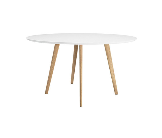 Gher h74 Round top by Arper | Dining tables