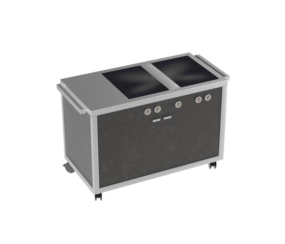Cooking carts | Double Induction top station by La Tavola | Modular kitchens