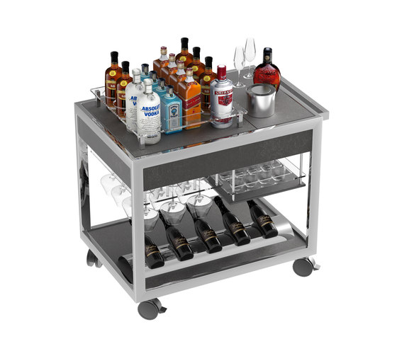 Special carts | Wine & Spirit cart de La Tavola | Cuisines modulaires