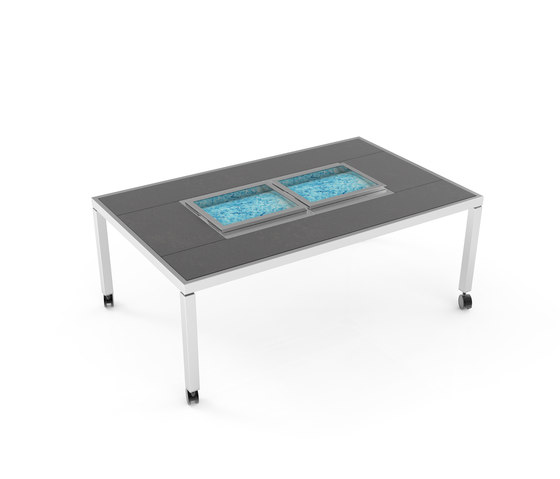 Dining table with double ice well by La Tavola | Dining tables