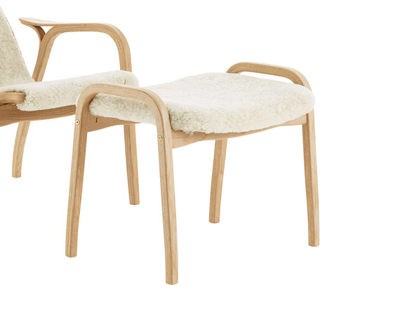 Lamino foot stool in rattan by Swedese | Poufs