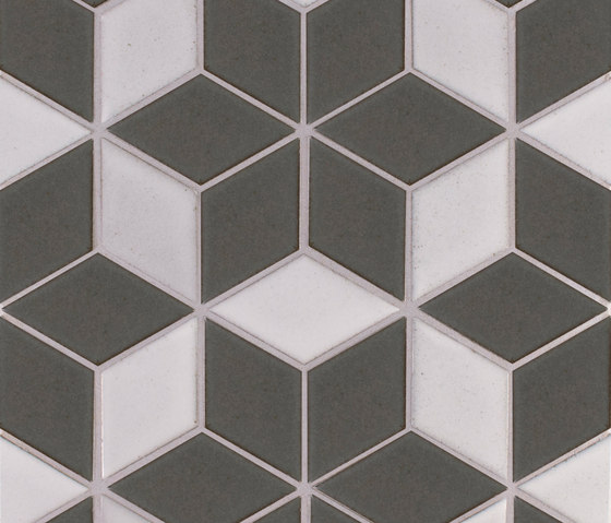 Brownstone Diamond Pattern #1 von Pratt & Larson Ceramics | Keramik Fliesen