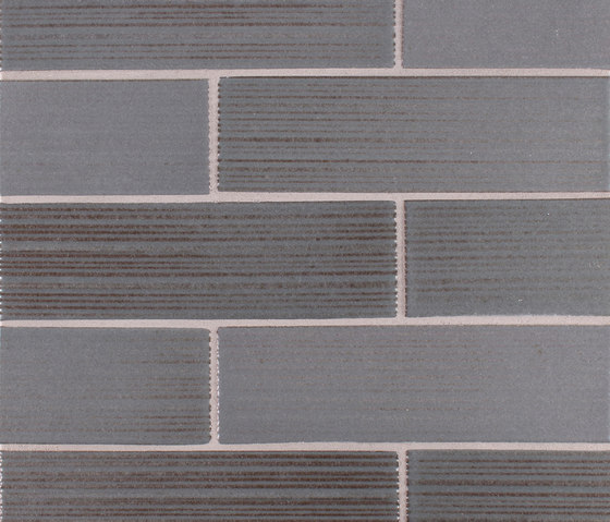 2x8 Brownstone Raked by Pratt & Larson Ceramics | Ceramic tiles