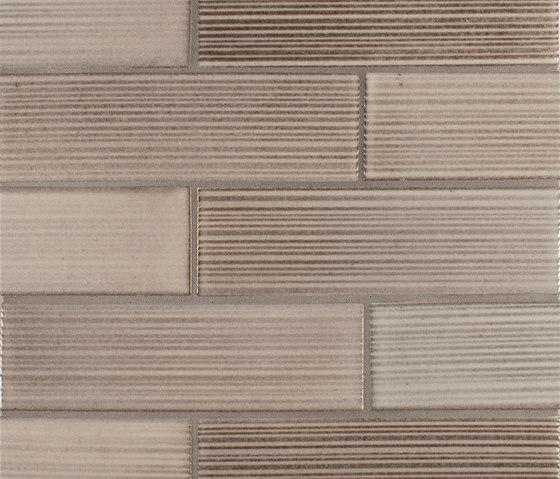 2x8 Brownstone Raked de Pratt & Larson Ceramics | Carrelage céramique
