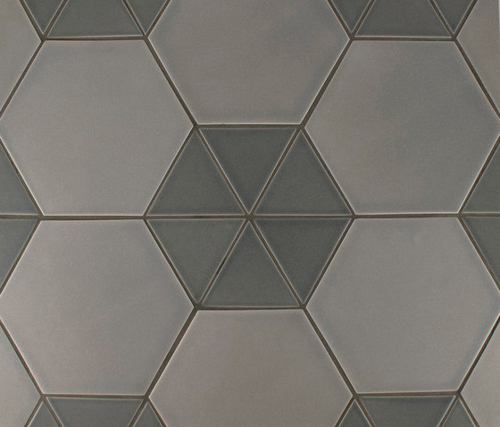 "4"" Equilateral Triangle and 8"" Hexagon by Pratt & Larson Ceramics 
