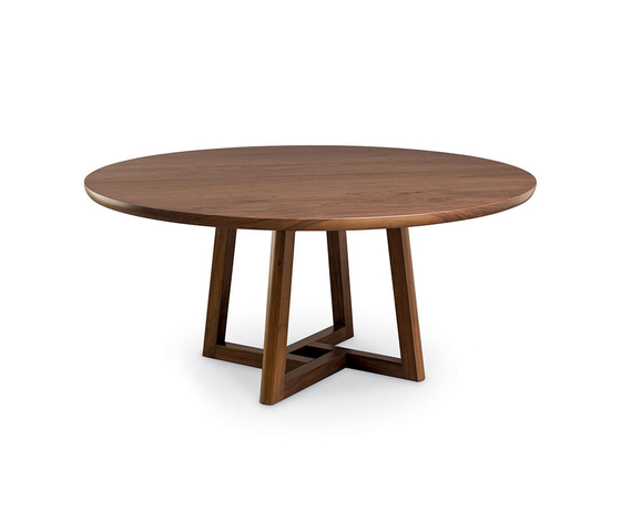 Roulette Round Extension Table - Split Base di Altura Furniture | Tavoli pranzo