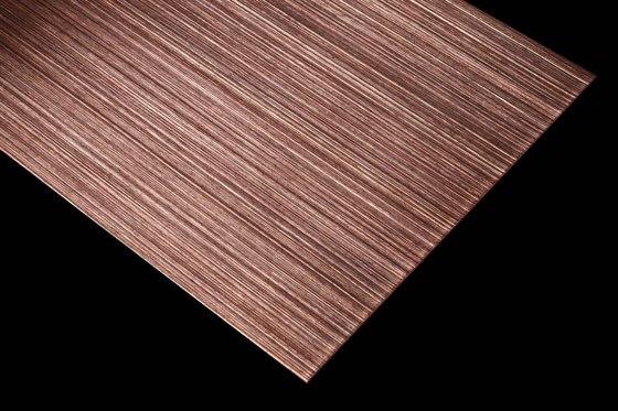 Nordic Brown Light | 980 | Hairline fine de Inox Schleiftechnik | Plaques de métal
