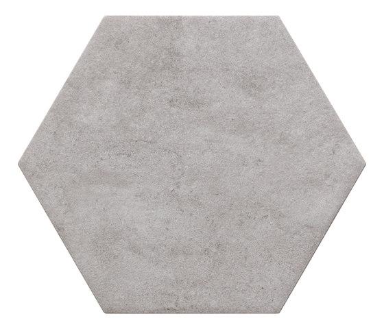 Bibulca | Esagona Grey 21x18 cm von IMSO Ceramiche | Keramik Fliesen