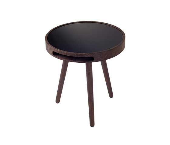 Malin Side Table With Glass Top de Woak | Mesas auxiliares