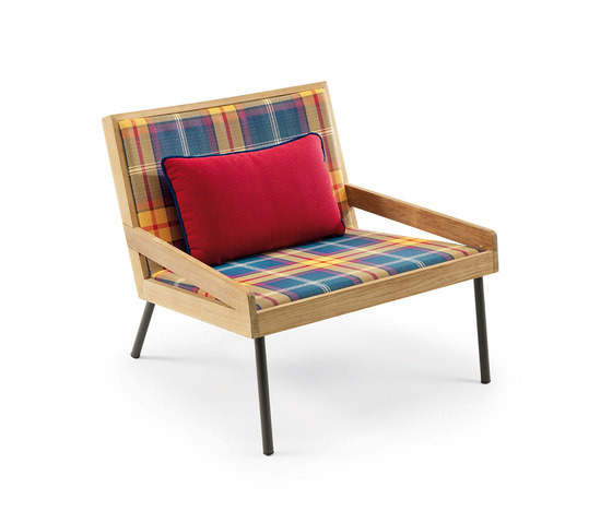 Allaperto Mountain Lounge armchair with Cushion by Ethimo | Armchairs