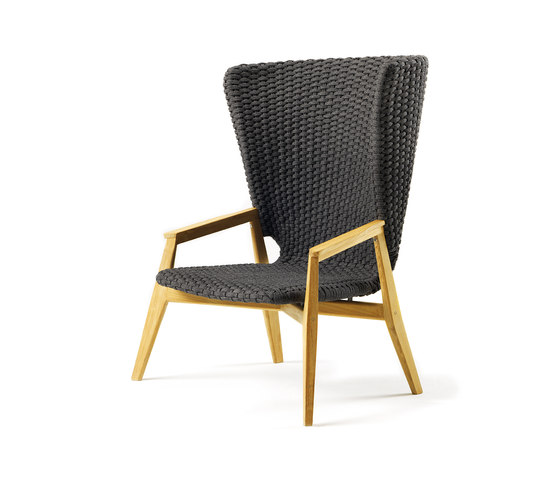 Knit Lounge high back armchair by Ethimo   Armchairs