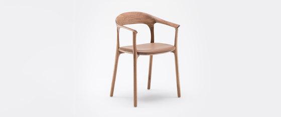 Elle gepolsterter Stuhl mit Armlehne von MS&WOOD | Stühle