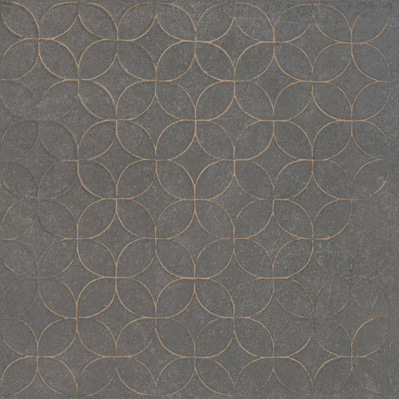 Karman Ceramica Decorata Singolo Floreale Antracite by EMILGROUP | Ceramic tiles