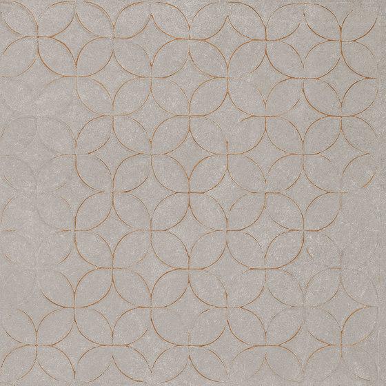 Karman Ceramica Decorata Singolo Floreale Cenere by EMILGROUP | Ceramic tiles