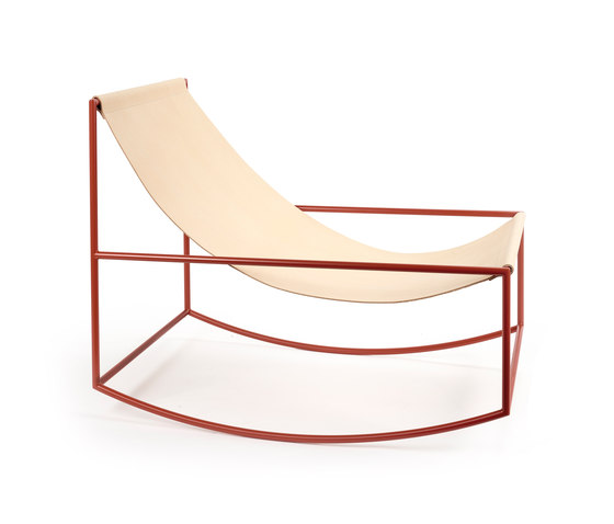 rocking chair | red_leather by valerie_objects | Armchairs