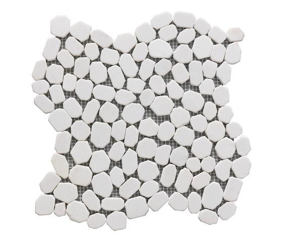 Sassi | River White 30x30 cm di IMSO Ceramiche | Mosaici pietra naturale