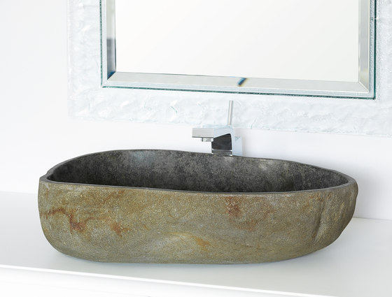 Lavabi | Ovale Riverstone d.40/60 h.15 cm by IMSO Ceramiche | Wash basins