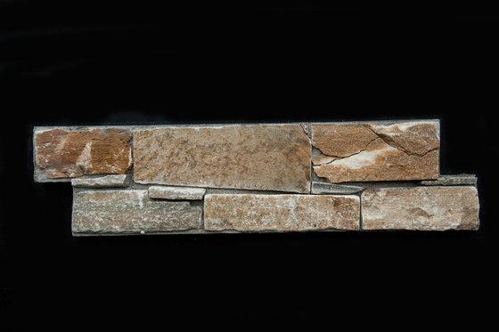Pietre Da Rivestimento   Dolomiti Rosso 15,2x61 cm de IMSO Ceramiche   Dalles en pierre naturelle