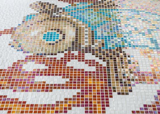 Royal Waves | Coral Decor 15x15 di Mosaico+ | Mosaici vetro