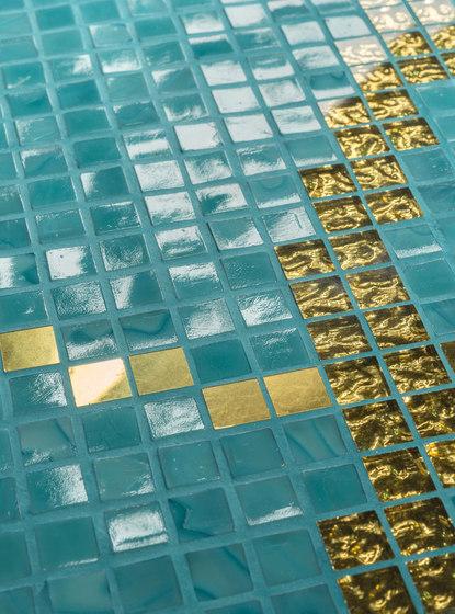 Royal Waves | Dream Roses Decor 15x15 di Mosaico+ | Mosaici vetro