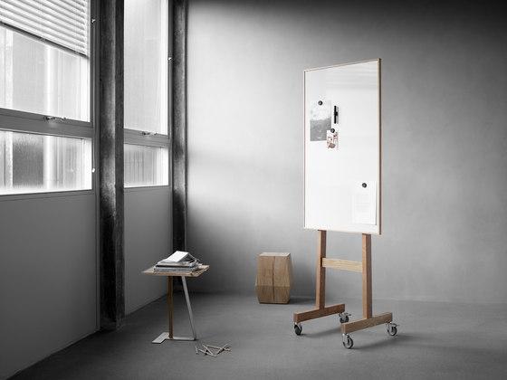 Wood tableau blanc mobile de Lintex | Chevalets de conférence / tableaux