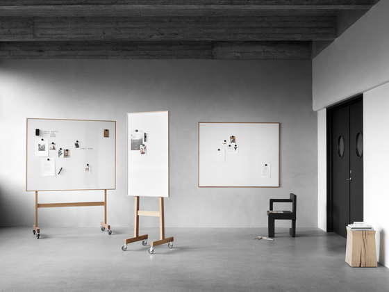 Wood mobil whiteboard by Lintex | Flip charts / Writing boards