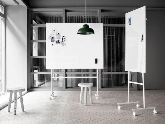 Mono tableau en verre mobile de Lintex | Chevalets de conférence / tableaux