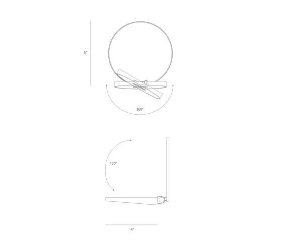 Gravy LED Wall Sconce - Matte White di Koncept | Lampade parete