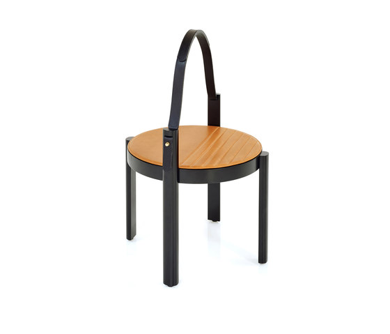 Melange handle table by Wittmann | Side tables