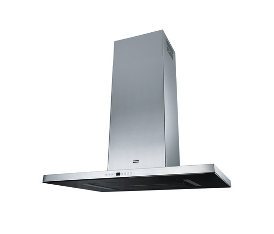 Maris T-Shape Hood FGB 906 IS AC Stainless Steel-Glass Black by Franke Home Solutions | Kitchen hoods