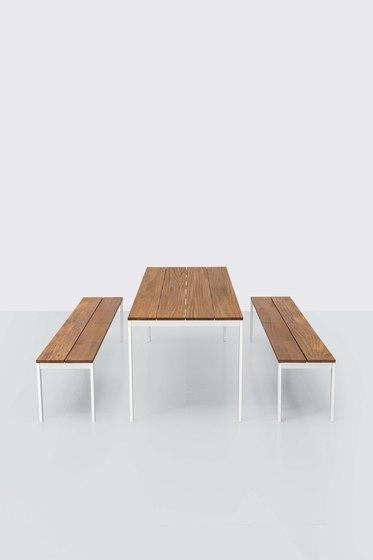 be-Easy slatted Table & Benches di Kristalia | Tavoli pranzo