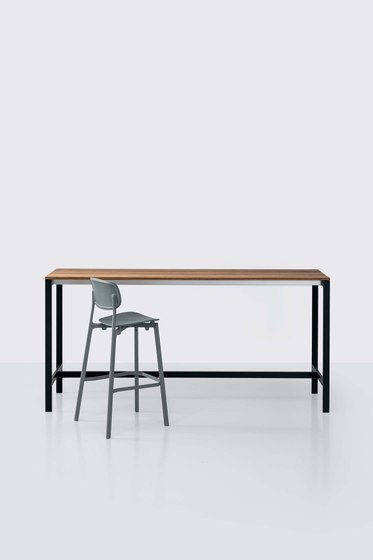 be-Easy slatted Bartable by Kristalia | Standing tables