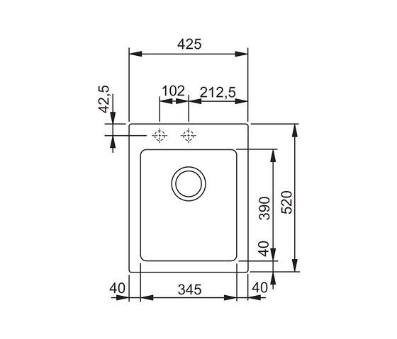Maris Sink MRG 610-42 Fragranite Coffee by Franke Kitchen Systems | Kitchen sinks