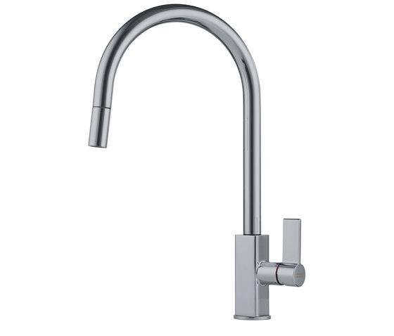 Maris Tap Pull Down J Version Nickel Optics by Franke Kitchen Systems | Kitchen taps