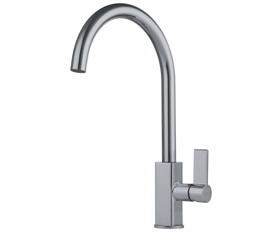 Maris Tap Swivel Spout J Version Nickel Optics by Franke Kitchen Systems | Kitchen taps