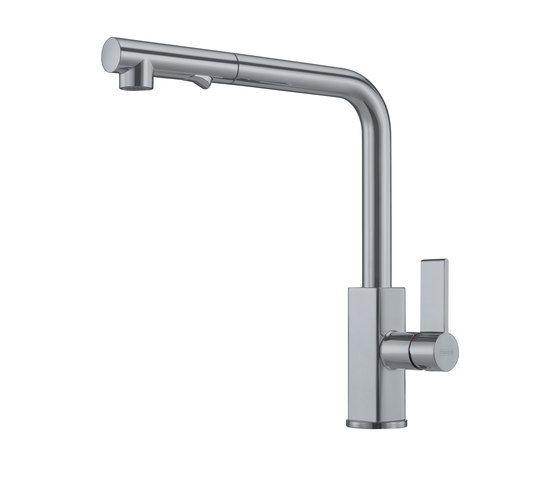 Maris Tap Pull Out L Version Nickel Optics by Franke Kitchen Systems | Kitchen taps