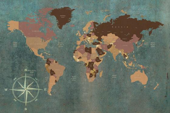 World Map by INSTABILELAB | Wall art / Murals