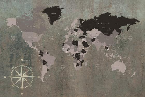 World Map by INSTABILELAB   Wall art / Murals
