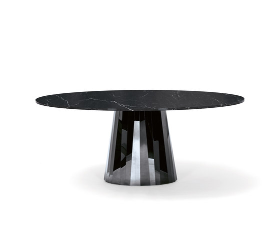 Pli Table Black marble by ClassiCon | Dining tables
