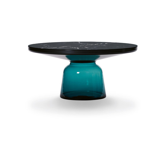 Bell Coffee Table steel-marble-blue by ClassiCon | Coffee tables