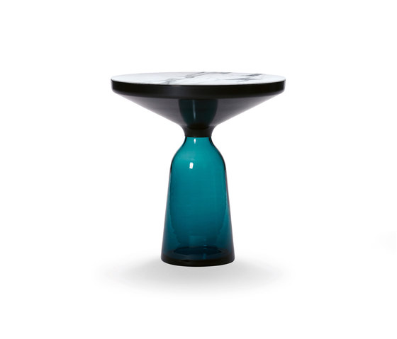 Bell Side Table steel-marble-blue de ClassiCon | Mesas auxiliares
