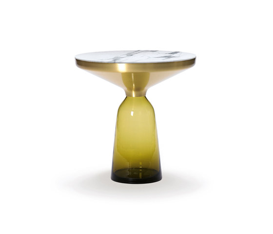Bell Side Table brass-marble-yellow de ClassiCon | Mesas auxiliares