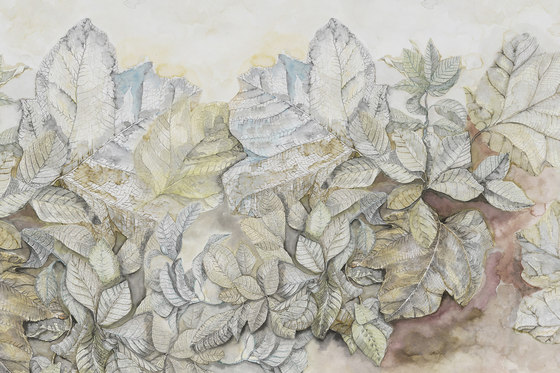 Natural Forms Twilight by GLAMORA   Bespoke wall coverings
