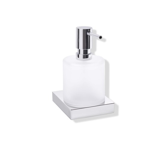 Soap dispenser with holder | 100.06.11045 by HEWI | Soap dispensers