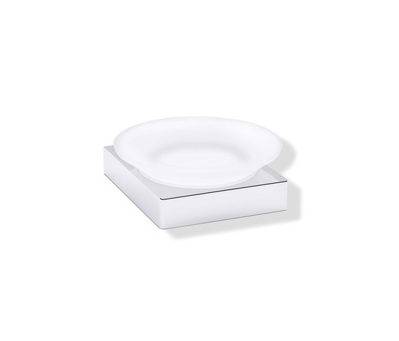Soap dish with holder | 100.02.11145 di HEWI | Portasapone